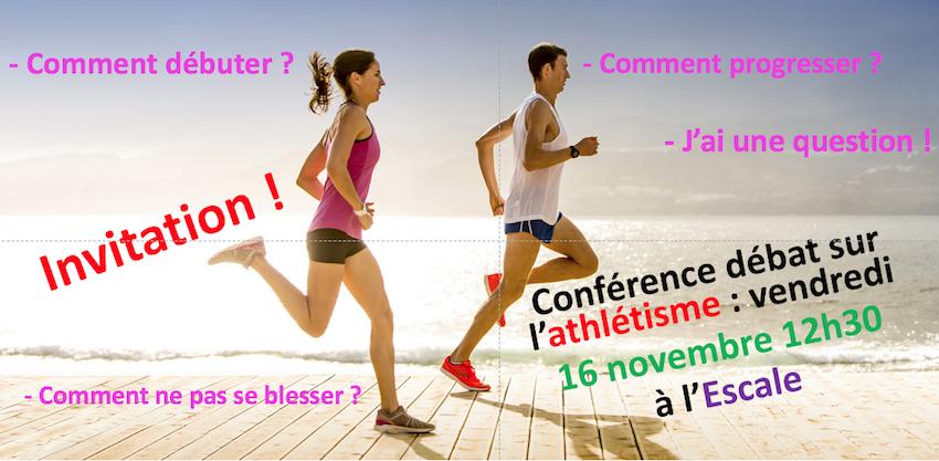 Invitation conférence athlétisme